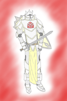 OC: Ser Isaac the Paladin (Colored) by Ninjastorm45