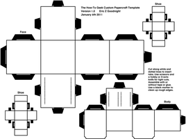 HTG papercraft template by lovefistfury