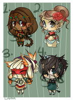 Adoptables: princesses by lapaa