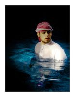 The Man in the water by SaudiDude