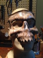 Leather skull mask by Skinz-N-Hydez