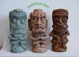 Clay Tikis by clayguygreg