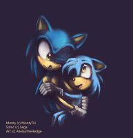 COMM: Sonic and Monty by AllesiaTheHedge