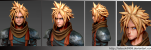 ZBrush in Cloud Strife(Paint) by tetsuok9999