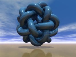 Another Knot In Blue by giovannigabrieli