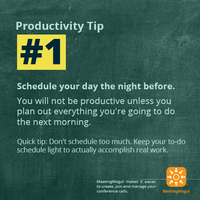 Productivity Tip Schedule your day night before by Folio3Software