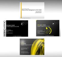 Visiting Card templates by Dragon-d