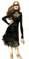 Fashion Illustration - Black Lace by FionaCreates