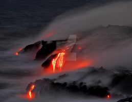 Lava Flow by visualeyeshawaii