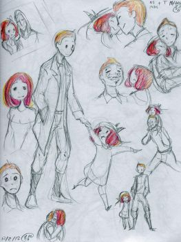 tintin and madeline sketches by RadioMomo