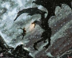 The Dragonborn .VS. Alduin the World Eater by Dragonborn-Miraak