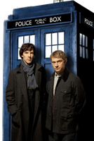 Sherlock + TARDIS by ConsultingFanArtist