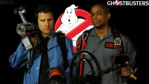 GhostBusters ! , Psych Fan Art , Shawn And Gus ! by Vulkaa