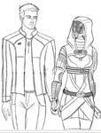 Mass Effect - Little Moments Sketch by Guyver89