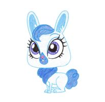 LPS - Blue Background Rabbit - by rmsaun98722