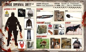 Zombie Survial Sheet by Emagyne