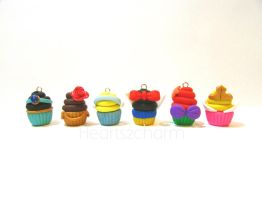 Cupcake Charms: Disney Princesses by Marielishere