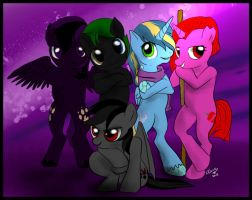 Commission - pony evil group by FuriarossaAndMimma