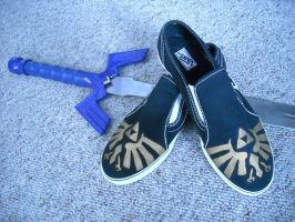 Zelda shoes by WizardTypist