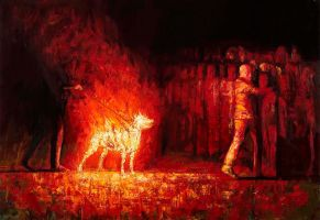 Burning dog 2 by SVerykios-Paintings