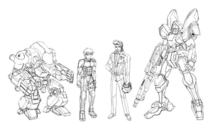 Bi@s Project Character Mecha Sketch by pasunna-zacrifa