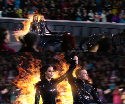 The Hunger Games chariot ride by agota86