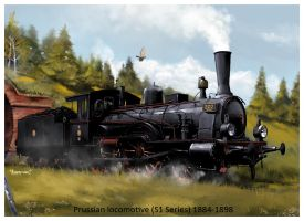 steam locomotive S1 series by dugazm