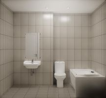 simple bathroom by spybg