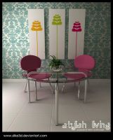 pastel fusion interior by silke3d