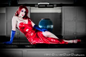 Jessica Rabbit on the Bar by EmeraldCoastCosplay