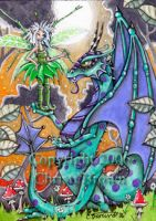 Dragon and Fairy ACEO by candcfantasyart