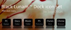 Black Lunam - Dock icons by SugaDSGN