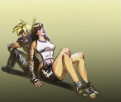 Cloud and Tifa by Lucas-Zebroski