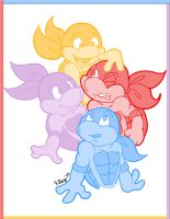 Mikey Donnie Leo and Raph by vilsy