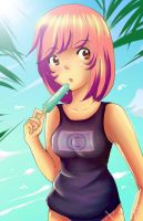 Hot day at the beach by nagami-chan