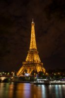 Eiffel Tower at Night by DevastationStudios
