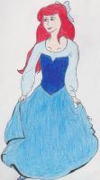 Ariel's Blue Dress by KaiCabin3