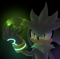 Silver the Hedgehog- Neon by NegativeDiamond