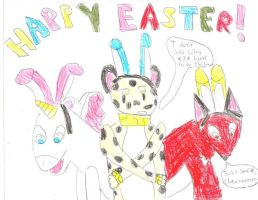 Happy Easter by PsychoDemonFox