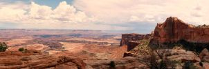 View from Mesa Arch in Canyonlands by Bawwomick