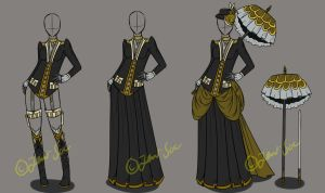 Outfit Design Set Auction [CLOSED] by JxW-SpiralofChaos