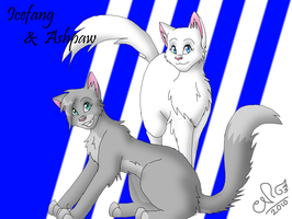 Icefang + Ashpaw for x-Tuari-x by Moonflight-RiverClan