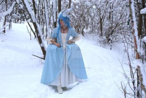 Fancy Ice dragon larp gear 2 by Headclouds