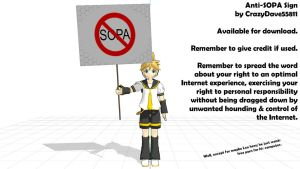 DL - Anti-SOPA Sign by CrazyDave55811