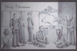 Christmas at the Cullen Family by nackmu