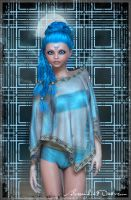 Shiny blue by Alessandra3DArt