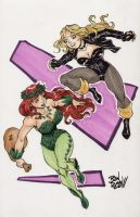 Black Canary and Poison Ivy by Dogsupreme