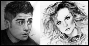 Zayn Malik and Perrie Edwards by LittleMixFans
