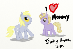 Dinky loves mommy by dennyhooves