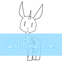 F2U Pony Lines by 14th-Crown